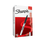 Sharpie S0810840 Retractable Black Pens Box of 12