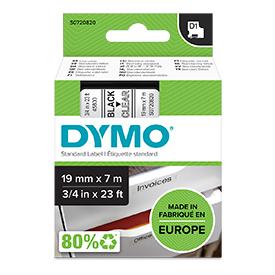 Dymo 2000 Label Tape 19mm Black Clear