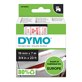 Dymo 45805 19mm Red On White