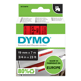 Dymo Blk/Red 2000/5500 Tape 19mm 45807