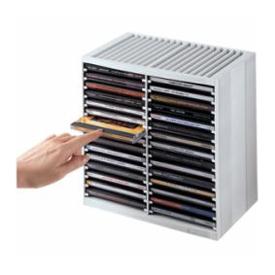 CD STORAGE SPRING CASE FOR 30 DISKS