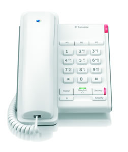 Image for BT Wht Converse 2100 Corded Phone 040205