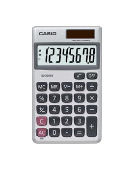 Image for Casio 8-digit Pocket Calc SL-300V-S-GH