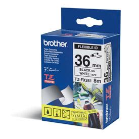 Brother TZEFX261 FLEXIBLE TapeBlack on White