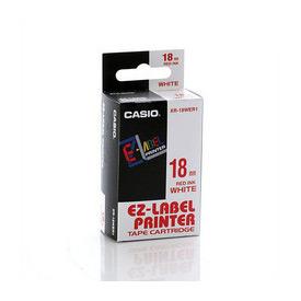 Casio XR-18WER Red on White Tape